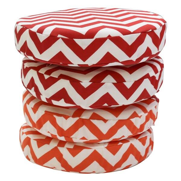 Somette Chevron 14 Inch Round Bistro Cushions Set Of 2