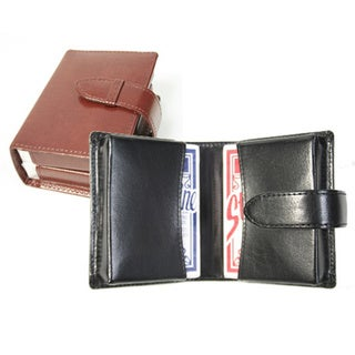 Royce Aristo Leather Double Decker Playing Card Set
