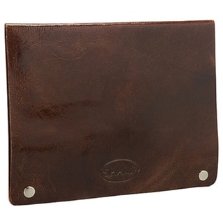 Sharo 100 Brown Leather iPad Case with Business Card Holders