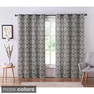 VCNY Bristol Grommet Top 84-Inch Ikat Curtain Panel