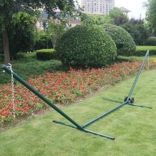 Prime Garden Space-Saving Steel Hammock Stand