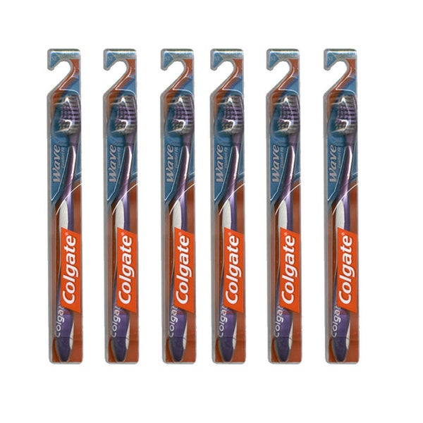 Colgate Wave Soft Compact Head Toothbrush (Pack of 6)