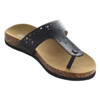 Soda Fusion Women's Flip-Flop Footbed Flat Cut Out Summer Sandals