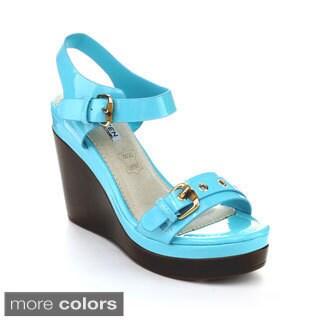 Kayleen DANUTA-4 Women's Ankle Strap Buckles Platform Wedges