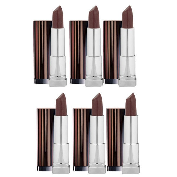 Maybelline New York Color Mocha Chino Sensational Lipstick (Pack of 6)