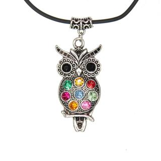 Handmade Tibetan Silver Night Owl Necklace (China)