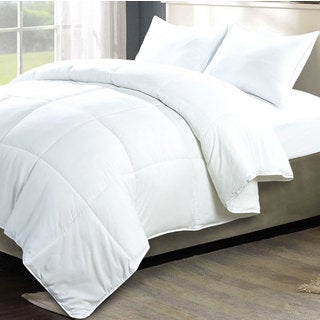 Serenta Down Alternative 3-piece White Comforter Set