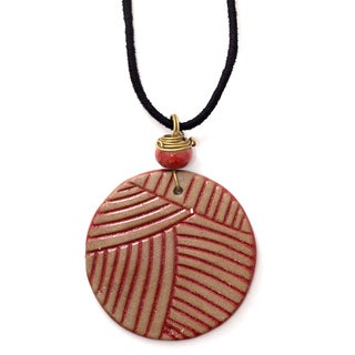 Handcrafted Circle Fire Necklace (India)