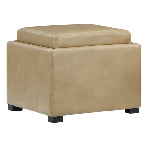 Flip Top Storage Ottoman Wood Tray Top
