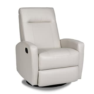 Stefan Bonded Leather Swivel Glider Recliner