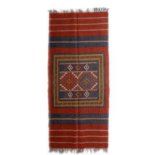 Indo Timbergirl Wool Jute Kilim Rug (3' x 5')