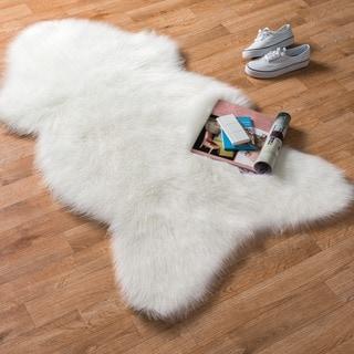 Asher Faux Sheep Skin Shag Rug (2'6 x 4'2)