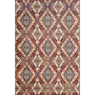 Sadie Diamond Ivory/ Multi Rug (7'7 x 10'5)