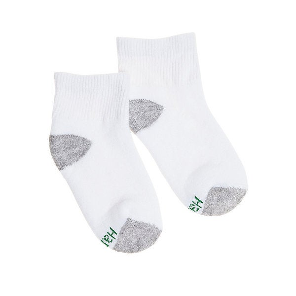 Hanes Boys Ankle ComfortBlend Assorted White Socks (Pack of 6)
