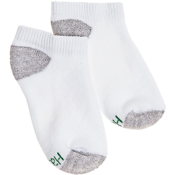 Hanes Boys No-Show ComfortBlend Assorted White Socks (Pack of 6)