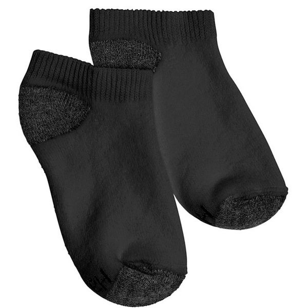 Hanes Boys No-Show ComfortBlend Assorted Black Socks (Pack of 6)