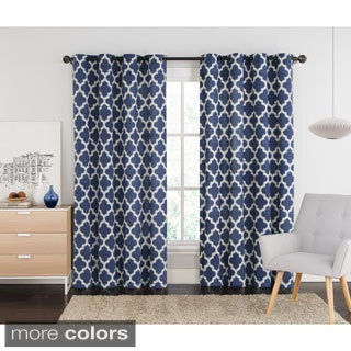 VCNY Ikat Grommet Top 84-inch Curtain Panel