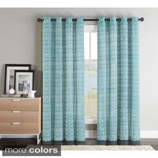 Victoria Classics Brayden Grommet Top 84-inch Curtain Panel Pair