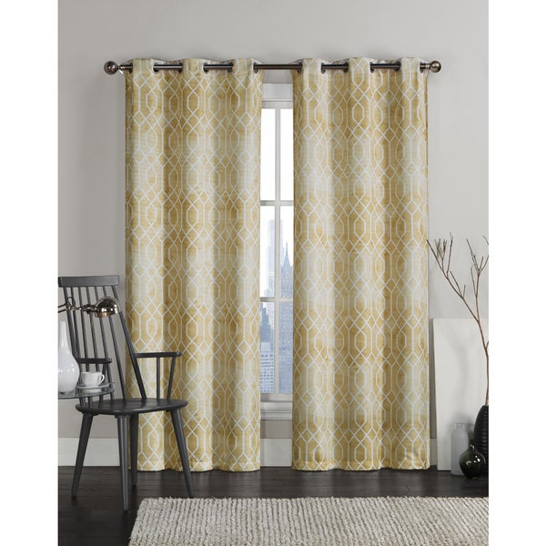 vcny andreas grommet top 96 inch curtain panel pair