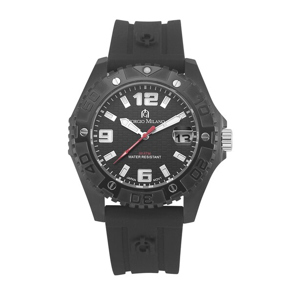 Cosmo by Giorgio Milano Men's Sports & Casual Black Watch Chronograph with 50 ATM Water Resistance