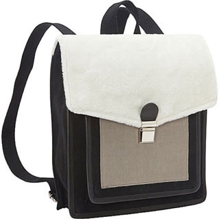 Sharo Acryllic Wool and Canvas Backpack