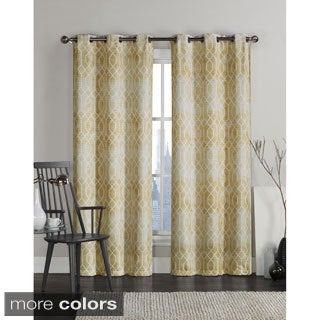 Victoria Classics Andreas Grommet Top 84-inch Curtain Panel Pair