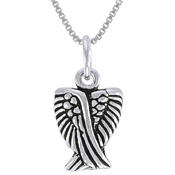CGC Sterling Silver Small Angel Wing Necklace