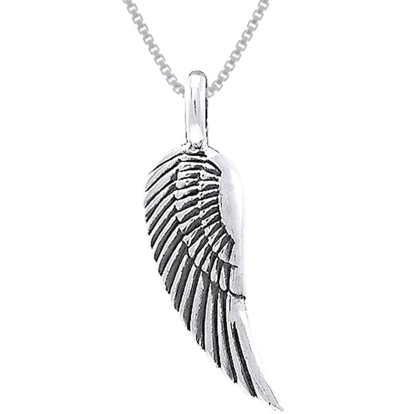 CGC Sterling Silver Guardian Angel Wing Necklace