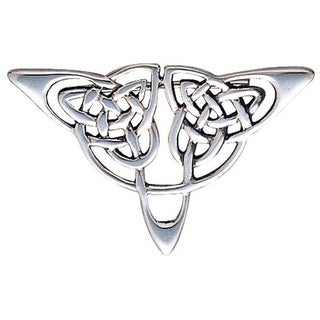 Carolina Glamour Collection Sterling Silver Celtic Triangle Knot Brooch Pin