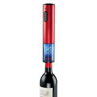 Electric Push-button Red Stainless Steel Corkscrew