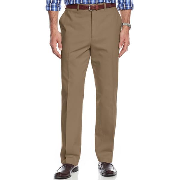 Michael Kors Cotton Twill Khaki Men's Chinos