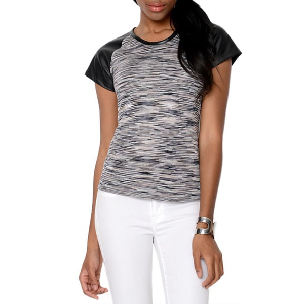 Yal Women's Space-Dye Two-tone Top
