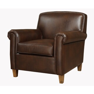 Sallinger Mocha Bonded Leather Accent Chair