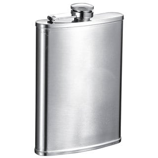 Visol Lauraus Satin Stainless Steel 8-ounce Liquor Flask