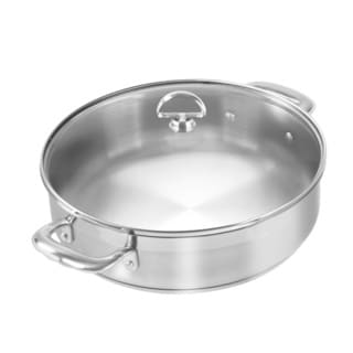Chantal Steel Induction 5-quart Sauteuse with Glass Lid
