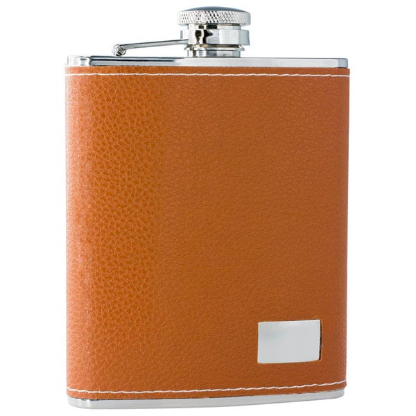 Visol Wrangler Brown Leather 6-ounce Liquor Flask