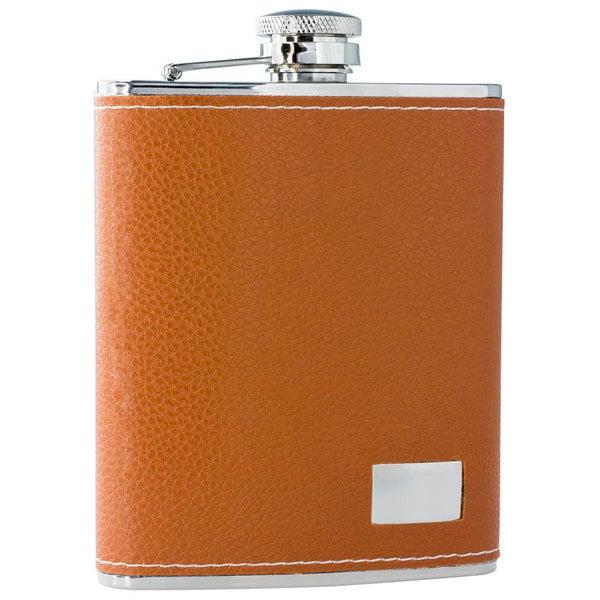 Visol Wrangler Brown Leather 6-ounce Liquor Flask