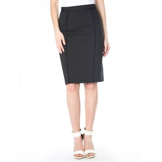 DownEast Basics Women's Ribbon Trimmed Pencil Skirt