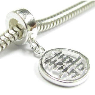 Queenberry Sterling Silver Chinese Double Happiness Dangle European Bead Charm