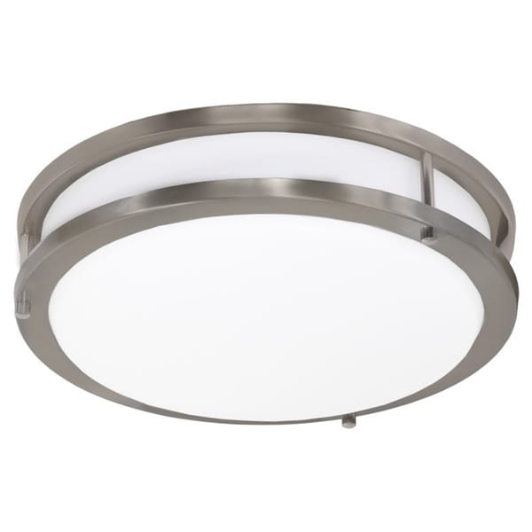 Contemporary Round LED Ceiling Fixture with Glass Shade
