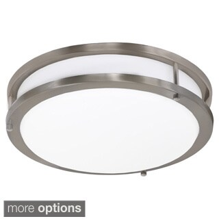 JESCO Contemporary Round LED Driverless Ceiling Fixture with Glass Shade