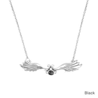 Unique and Alluring Wing Stone Accent .925 Silver Necklace (Thailand)