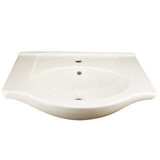 Highpoint Collection Vitreous White 26 Inch Wallmount Bathroom Sink