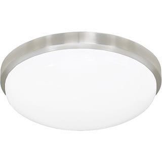 Classic Round LED Ceiling Fixture with Acrylic Shade