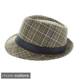 Faddism Checkers Fashion Fedora Hat