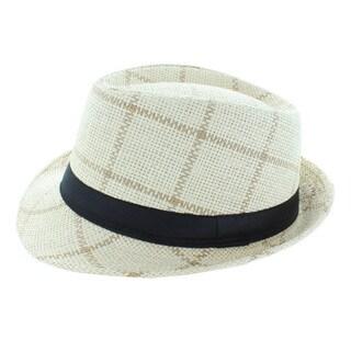 Faddism Squares Fashion Fedora Hat
