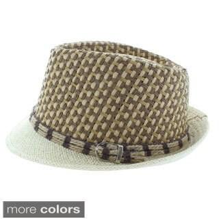 Faddism Woven Fashion Fedora Hat