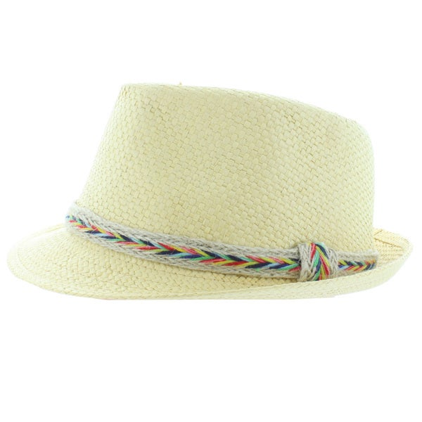 Faddism Straw Fashion Fedora Hat