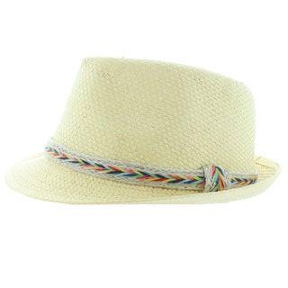 Faddism Straw Fashion Fedora Hat