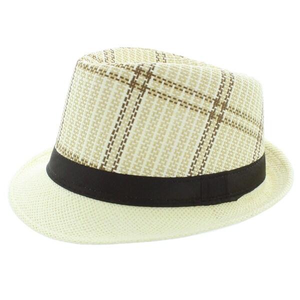 Faddism Fashion Plaid Fedora Hat